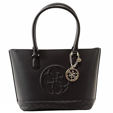 88ec1815b51 Guess Women s Korry Classic Black Satchel Handbag  Handbags  Amazon.com