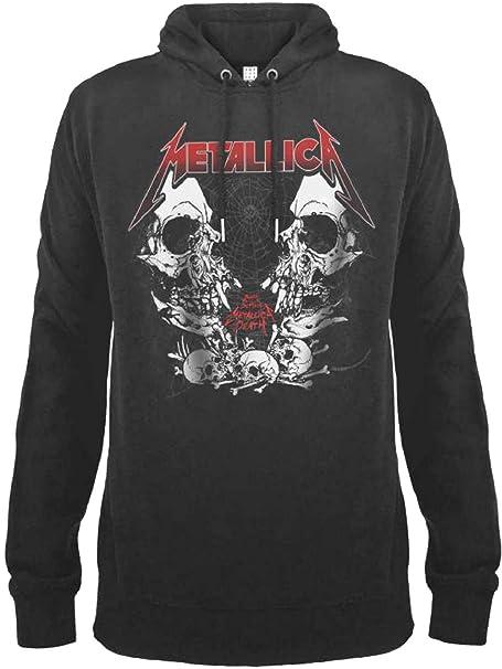 Amplified Metallica - Sudadera para Hombre Birth School: Amazon.es: Ropa y accesorios