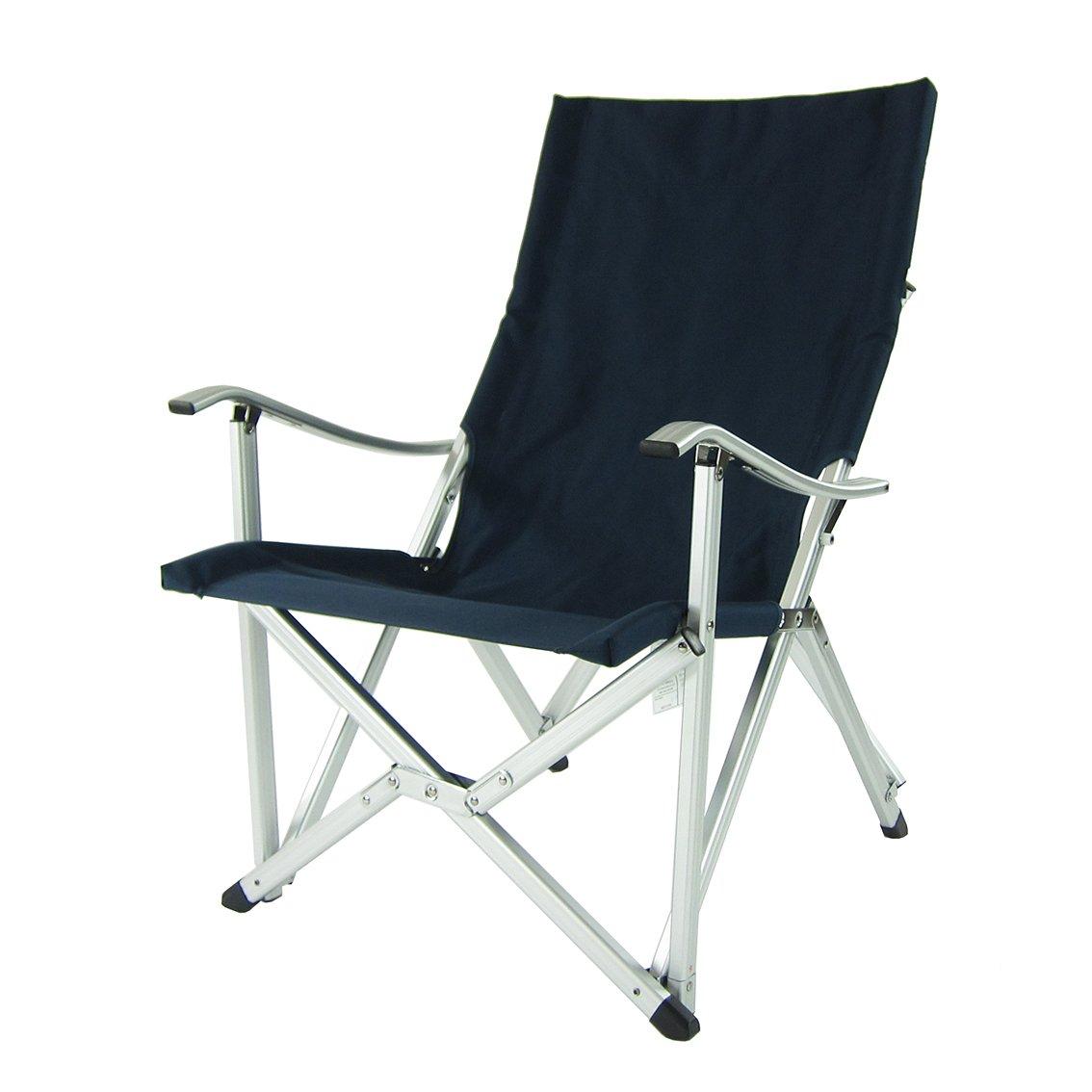 Blu Navy//Outdoor Chair//Cortile Balcone//Eventi//Sedia da Campeggio Onway Comfort in Alluminio Pieghevole Portatile Colore