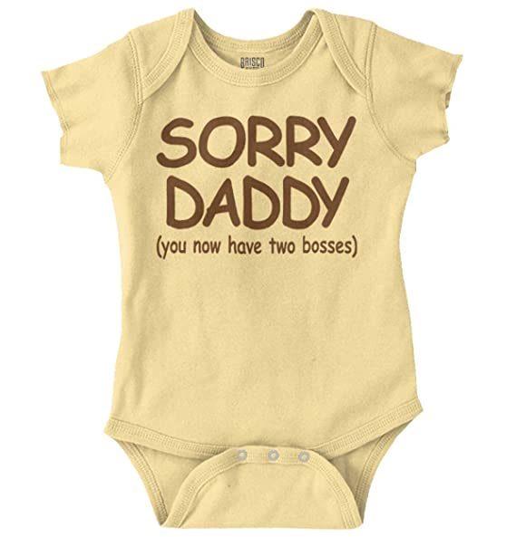 b0e40f148 Amazon.com  Sorry Daddy Two Bosses Sassy Personality Romper Bodysuit ...