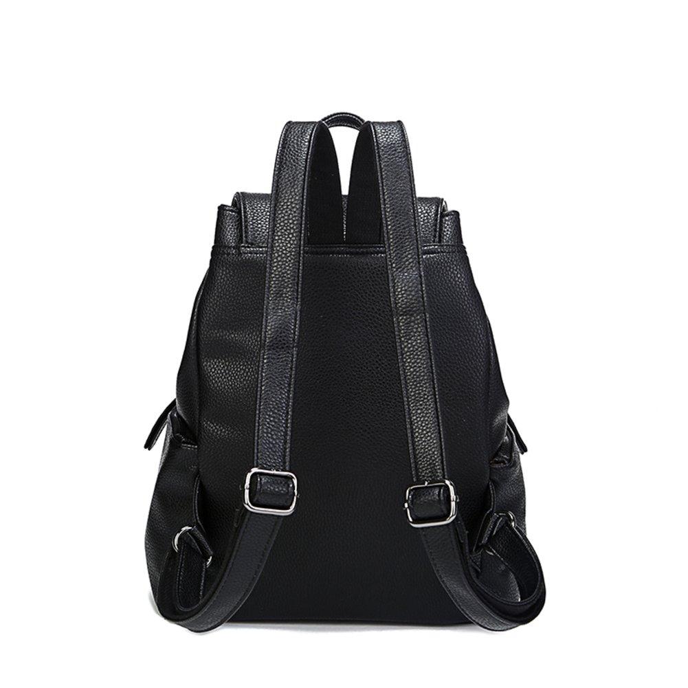 Golden PendantPU women's backpack/School of air leisure travel shoulder Pocket doubles-A