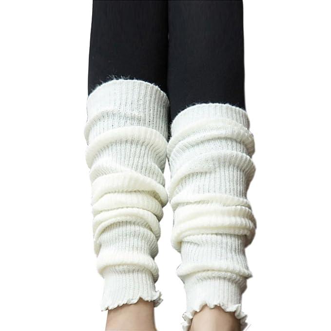 TININNA - Calcetines térmicos de punto para mujer, mezcla de lana cálida para invierno Blanco: Amazon.es: Hogar