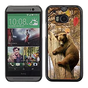 YOYO Slim PC / Aluminium Case Cover Armor Shell Portection //Bear & Owl Forrest Friends //HTC One M8