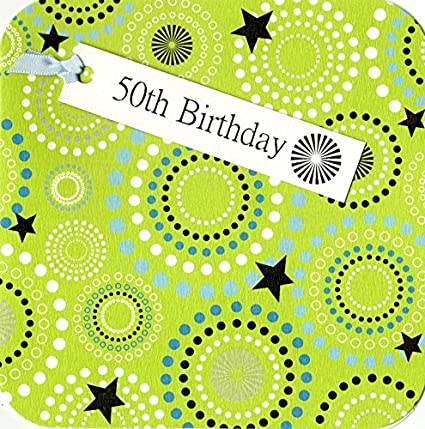 Amazon 50th Birthday Hand Finished Tag Tastic Card Greeting