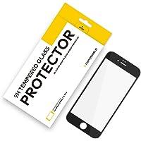 RhinoShield Protection Verre trempé pour iPhone 6 Plus/iPhone 6s Plus - Résistance aux Rayures 9H - Recouvre Tout l'écran et résiste aux Rayures - Garantie sans Bulle - Noir