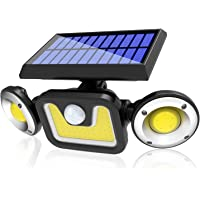 Solar Lights Outdoor, Automatic Motion Sensor Flood Light with 360 ° Angle Adjustment, Waterproof Wall Mount Security…