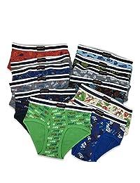 ANDREW SCOTT Boys Paquete de 12 y 18 Calzoncillos de algodón para niños pequeños y Grandes en Varios Colores Impresos