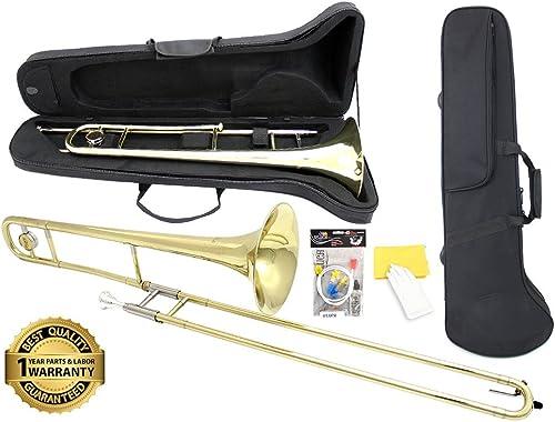 D'Luca 750L 750 Series Brass Bb Tenor Slide Trombone