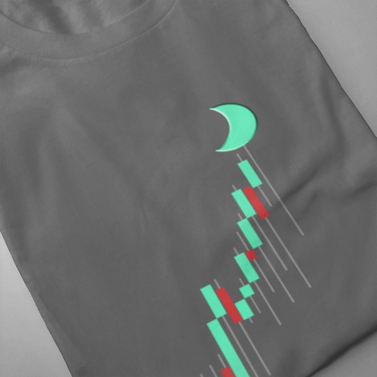 Seuriamin to The Moon T Shirt Bitcoin BTC TRADI Mens Ultra Soft Tennis Short Sleeve Shirt