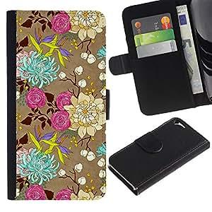 TaiTech / - Flores Rosas Arte Dibujo - Apple Iphone 5 / 5S
