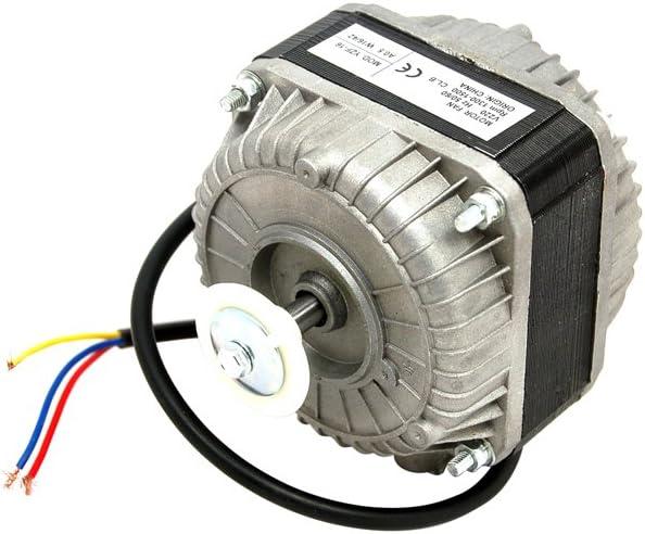 Motor de ventilador para frigorífico: 16Watt motor de ventilador de frigorífico o congelador este motor se puede pie, en la parte superior, cara o de la parte trasera. Agujeros de fijación Tapped, 3