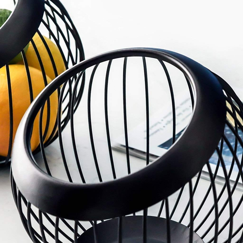 Stainless Steel Fruit Bowl Nordic Modern Minimalist Hollow Snack Plate Home Living Room Decoration Plate Size:20cm 18cm