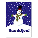 Amazon.com: Snowman Thank You Note Card - 18 Boxed Cards ...