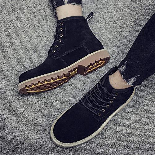 Boots Boots Boots Top High Uomo Pelle Stivali Stivali Stivali Stivali in Martens Stivali in Black Pelle Autunno Stivali da Adulti da Lavoro All'aperto Desert Dr Stivali Classic ppXqxFR