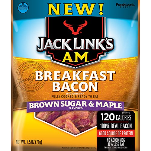 - Jack Links A.M. Breakfast Bacon Brown Sugar & Maple Bacon Jerky (2.85oz)