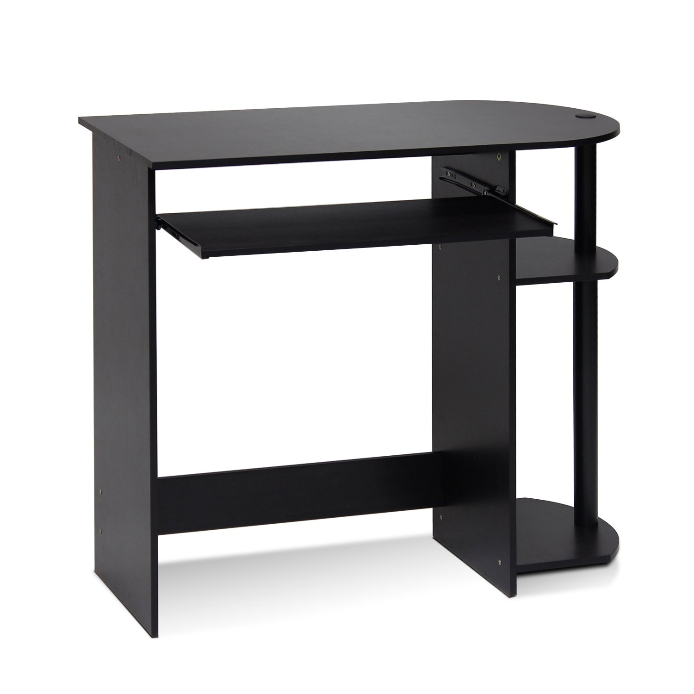 Furinno 14098R1EX/BK Easy Assembly Computer Desk, Espresso