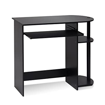 Amazoncom Furinno 14098R1EXBK Easy Assembly Computer Desk