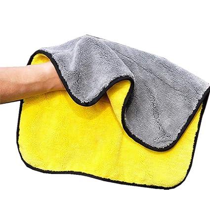 Fliyeong Toalla de Lavado de Coches de Microfibra, Toalla de Limpieza Ultra Suave Limpieza Absorbente