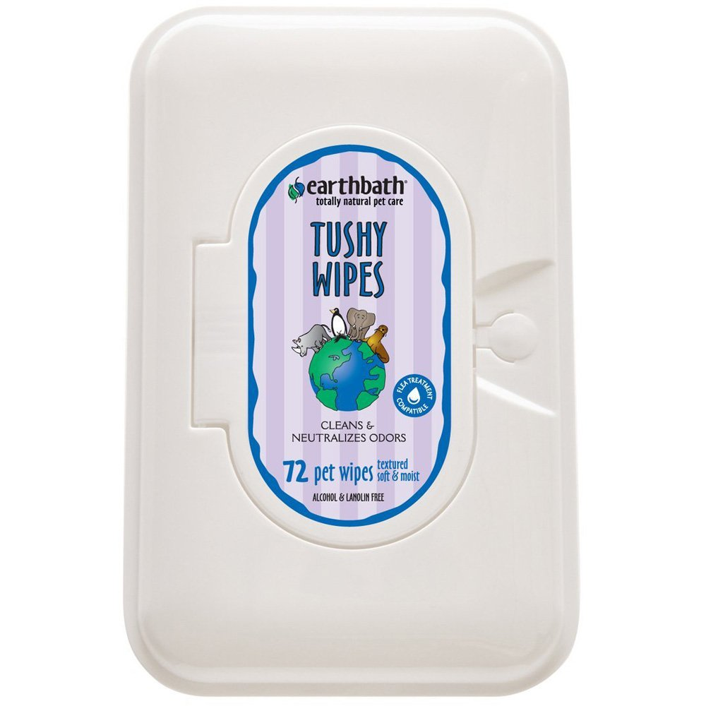 Earthbath Shed Control Tushy Wipes for Pets - 72 Wipes