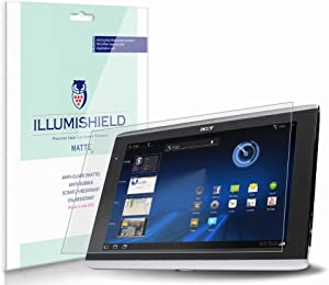 iLLumiShield Matte Screen Protector Compatible with Acer Iconia Tab A100 7 inch (3-Pack) Anti-Glare Shield Anti-Bubble and Anti-Fingerprint PET Film