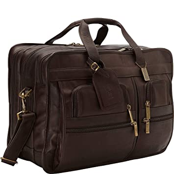 6260a185038a Amazon.com | Claire Chase Jumbo Executive Laptop Leather Briefcase ...