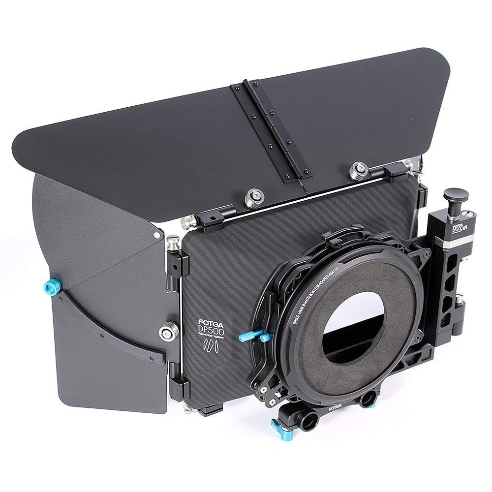 Fotga DSLR Swing-Away Matte Box Mattebox with 15mm Rod for Rail Rod Baseplate Rig Nikon D850 D750 Sony A9 A7III A7RIII A7SII A6000 A6300 A6500 Panasonic GH4 GH5 GH5s Canon EOS 5D 6D 7D Mark II III IV by Hersmay