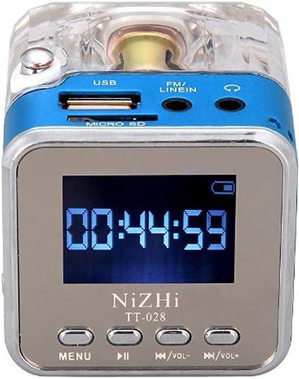 USB TF Card MP3 Player FM Radio Mini Digital Speaker TT-028 For PC Laptop Phones