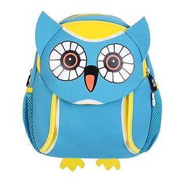 Georgie Porgy Viajar Mochila Infantiles Animal Bolsas Escolares de Niños Chico Azul (owl)