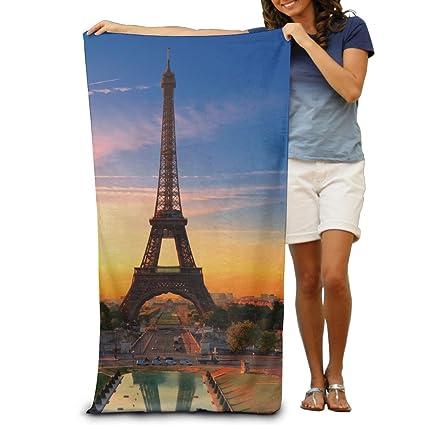 Toalla de playa, diseño de París de la torre Eiffel toalla de microfibra
