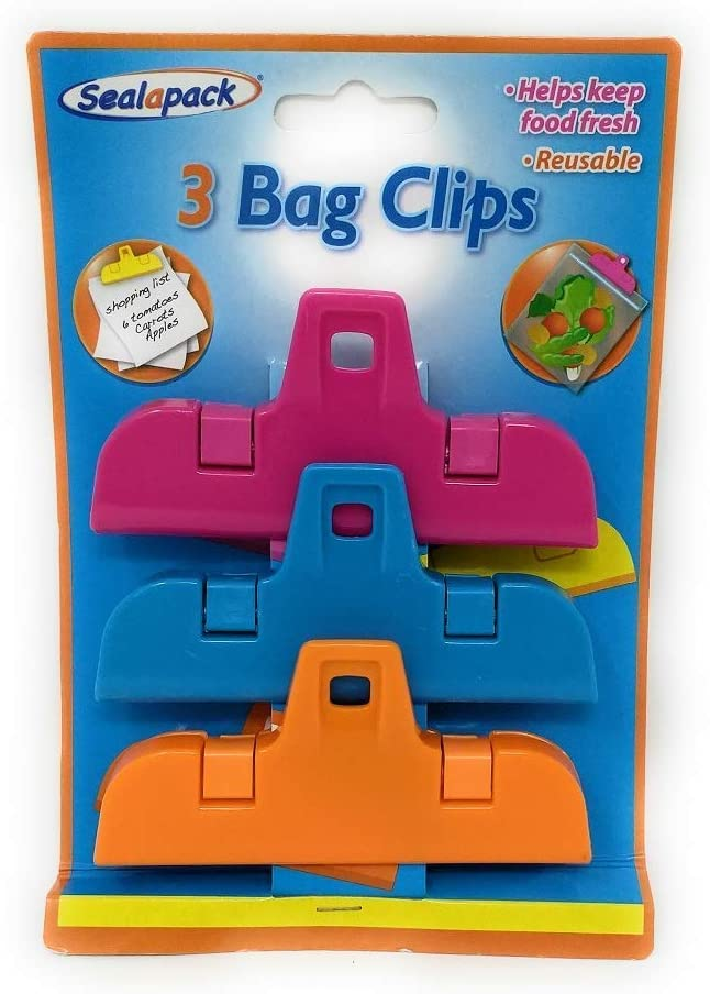 13 Food Bag Clips Reusable Tie Plastic Storage Sealing Fridge Freezer Fresh