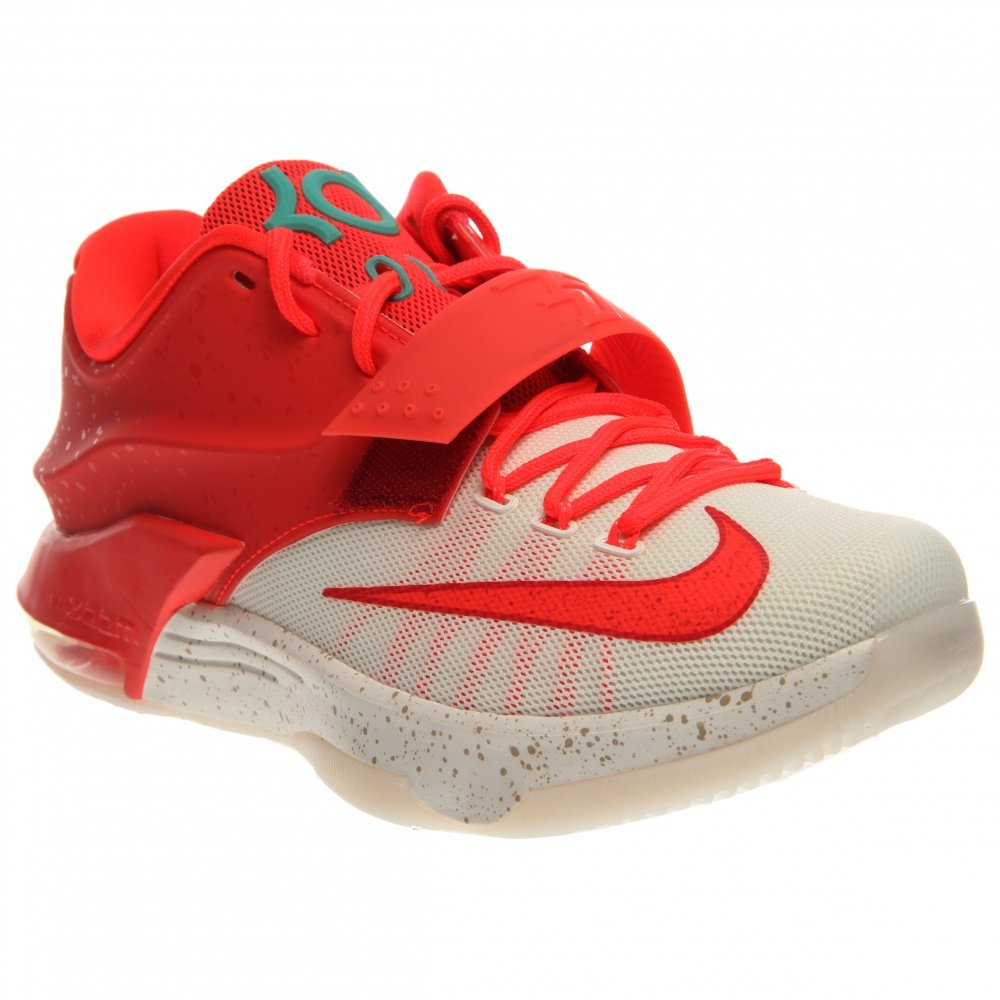 Nike Air Zoom Kevin Durant KD VII 7 Hallenschuhe Aktuelles Modell 2014 lila/tuuml;rkis/grau/infrared  8|Bright Crimson, Ivory-emrld Grn