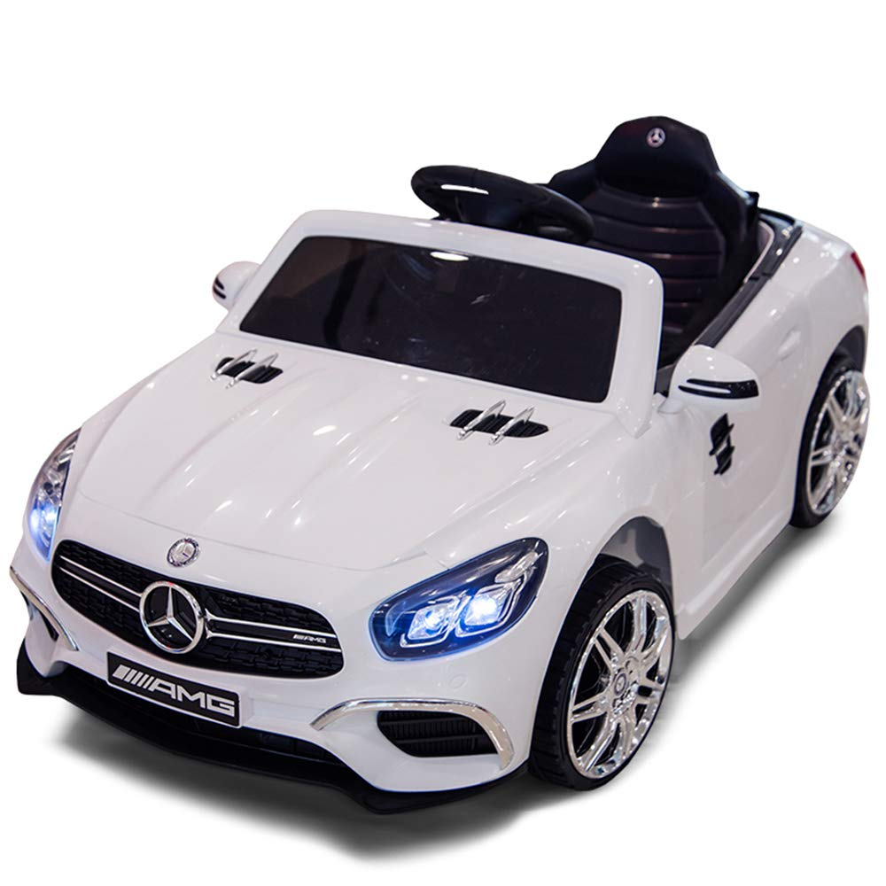 XBSD 12V Ride On Car Electric Cars for Kids, Battery Powered Electric Ride On Vehicle w/ 2.4G Parental Remote, LED Lights, Spring Suspension etc. by XBSD