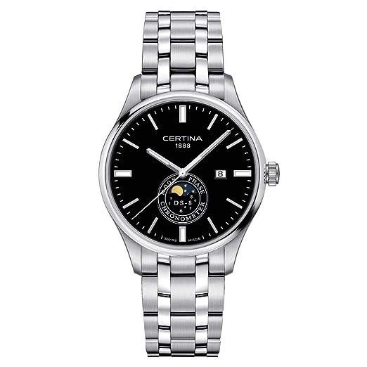 Certina DS-8 Reloj de Hombre Cuarzo 41mm Correa de Acero C033.457.11.051.00: Amazon.es: Relojes