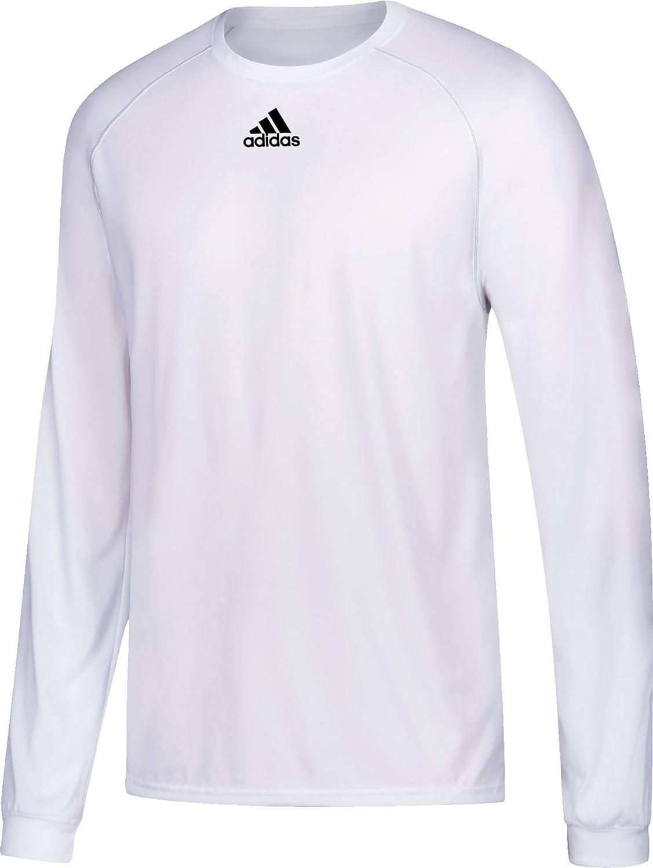 AdidasメンズClimalite杢長袖シャツ B00TQK8CZK Large|ホワイト ホワイト Large