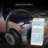 dodocool Cuffie EQ Auricolare Stereo Wireless CVC 6.0 Cancellazione del Rumore AptX Hi-Fi a Bassa Latenza Trasmissione Personalizzata Effetto Audio Batteria Ricaricabile al Litio Polimero Nero