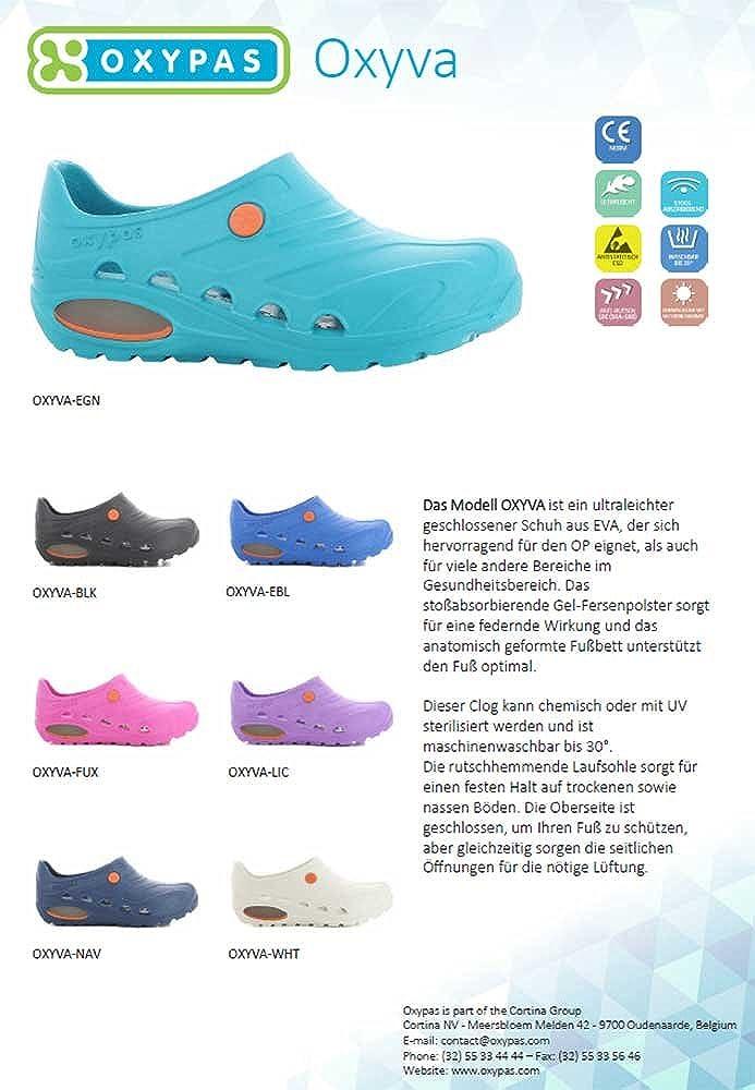 Oxypas Oxyva Sabots m/édicaux pour adultes Unisexe Couleur/: bleu /électrique Taille/: 41//42