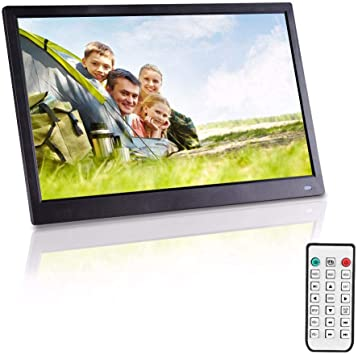 Support 720P Video Video Player Calendar Alarm Auto On//Off Timer DAETNG 13 Inch Full HD Digital Photo Frame 1920x1080 High-Resolution IPS Screen Display Photos with Background Music,15.6in-Black