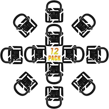 Strap Management Tool Buckle Web Dominator Elastic Strings BOOSTEADY Kit of 30 Attachments for Molle Bag Tactical Backpack Vest Belt,D-Ring Grimloc Locking Gear Clip
