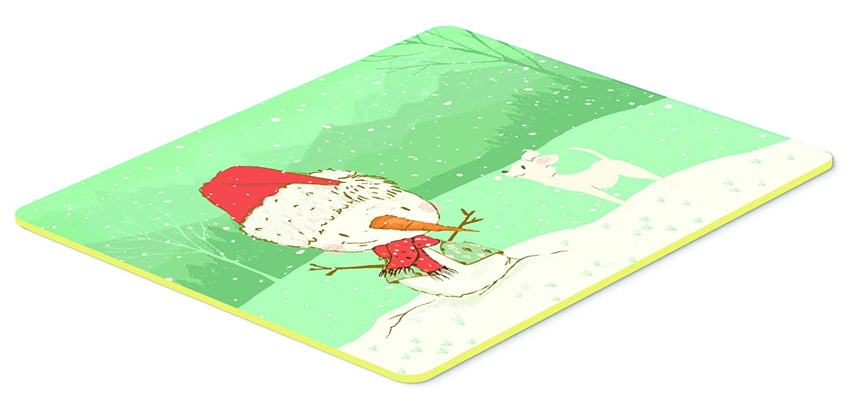 Carolines Treasures CK2082JCMT White Chihuahua Snowman Christmas Kitchen or Bath Mat 24x36 24Hx36W
