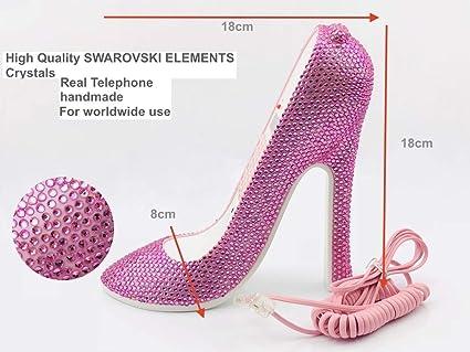 2c40985cea38 Amazon.com   Blingustyle New Generation Pink Swarovski Element ...