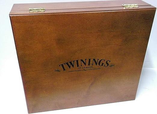 Twinings - Caja de madera con 12 compartimentos (se entrega vacía ...