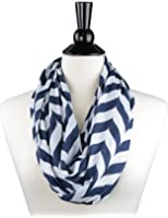 Womens Scarves Chevron Infinity Scarf - Pop Fashion Scarfs with Zipper Pocket Lightweight Wrap msrp $44.99