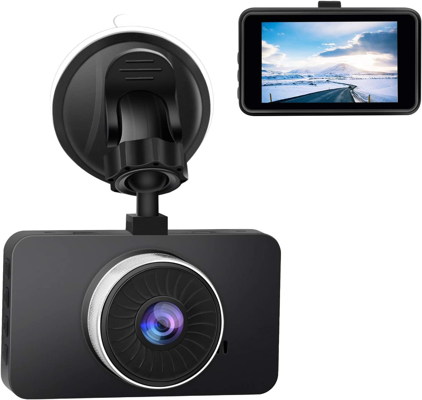 """CHICOM 3"""" Dash Cam Full HD 1080P, 170 Degree Wide Angle LCD Dashboard Camera Car Video Recorder with Night Vision, G-Sensor, WDR, Loop Recording, Motion Detection, Parking Monitor"""