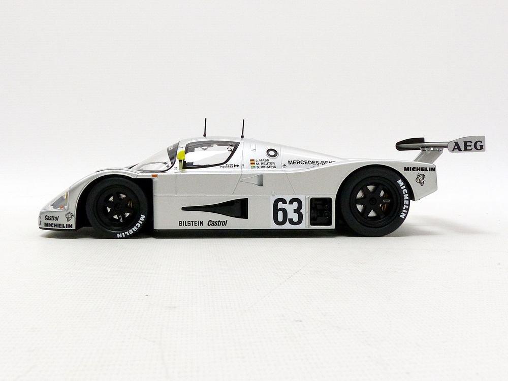 Mercedes C9 Winner Le Mans 1989 Sauber V/éhicule miniature 183442 Argent// Jaune Norev Echelle 1//18