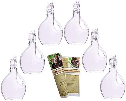Botellas de cristal con tapón mecánico de Gouveo, incluyefolleto de 28 páginas de recetas para