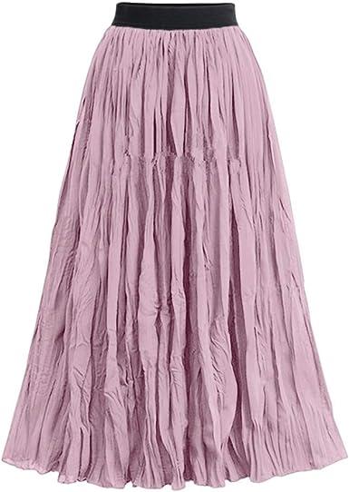 Faldas Largas Y Elegantes Faldas Cortas Mujer Verano Faldas Mujer ...