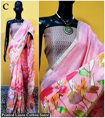 Kalyani's Indian Linen Cotton Silk Saree