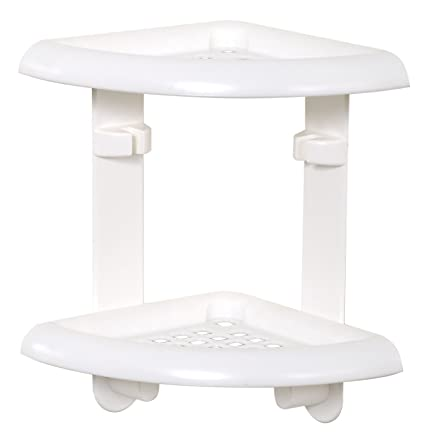 Amazon.com: Zenna Home 370W, Bath and Shower Corner Caddy, White ...