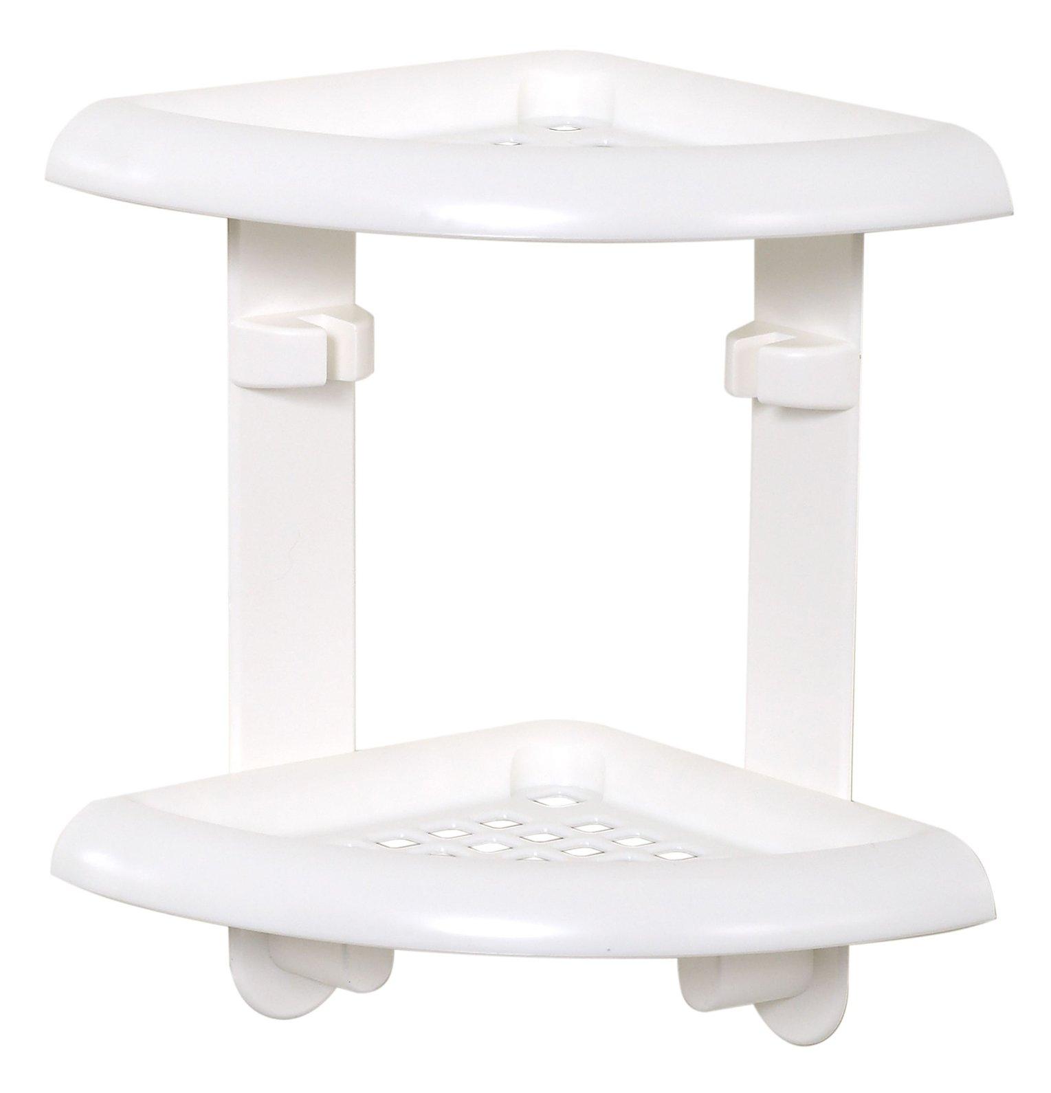 ZPC Zenith Products Corporation Zenna Home 370W, Bath and Shower Corner Caddy, White