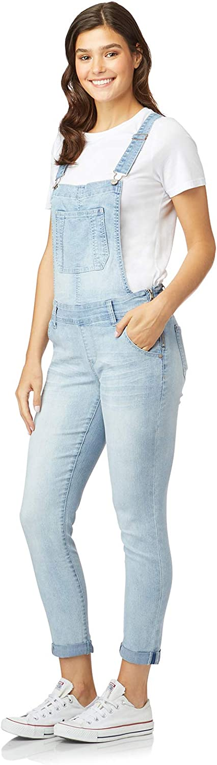 WallFlower Womens Juniors Denim Tomboy Overalls